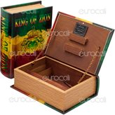 Spliff Box Stazione di Rollaggio in Legno - Medium Libro King of Zion