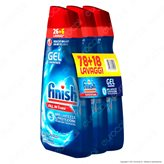 Finish PowerGel Tutto in 1 Max Regular per Lavastoviglie - 3 Flaconi da 650ml