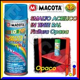 Vernice Spray Macota - Smalto Acrilico Opaco disponibile in 26 Tinte RAL - Tinta : 8019 - Marrone Grigio
