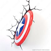 3D Light Fx Marvel Avengers Scudo Di Capitan America - Lampada LED a Batteria