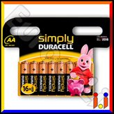 Duracell Simply Alcaline Stilo AA - Blister 8 Batterie