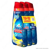 Finish PowerGel Tutto in 1 Max al Limone per Lavastoviglie - 3 Flaconi da 650ml