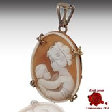 Shell Cameo Mother and Child