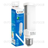 V-Tac VT-1926 Lampadina LED E27 6W Tower PL Horizontal Light - SKU 4373 / 4115 / 4116 - Colore : Bianco Naturale