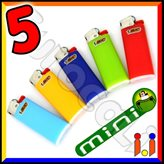 Bic Mini J25 Piccolo Colori Assortiti - 5 Accendini