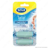 2 Testine di Ricambio Scholl Velvet Smooth Wet & Dry