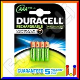 Duracell Ultra Precharged 900mAh Pile Ricaricabili Ministilo AAA - Blister 4 Batterie