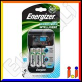 Energizer Intelligent Con Display Led Caricabatterie Professionale + 4 Pile Stilo AA 2000mAh