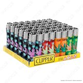Clipper Large Fantasia Print Leaves - Box da 48 Accendini
