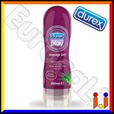 Durex Massage 2in1 con Aloe Vera, Gel Massaggi + Lubrificante Intimo 200ml